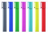 Set of colored felt-tip pens. — Stock Photo