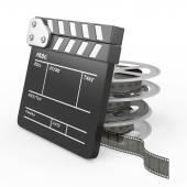 Film and Clapper board — Stok fotoğraf