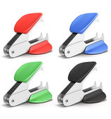 Set of staple remover different colors — Stock Photo