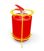 Fire extinguisher on white — Stock Photo