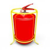 Fire extinguisher close-up. — Stock Photo