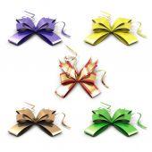 Set of celebratory bows — Stock Photo