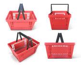 Set of plastic baskets — ストック写真