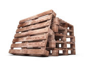 Stack of wooden pallets close-up — Stockfoto