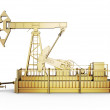 Side view golden machine oil pump — Stock Photo #67895921