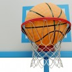 Basketball ball falling into a basketball hoop close-up — Stock Photo #68782515