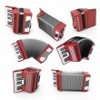 Постер, плакат: Set of accordion with different angles