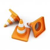 Traffic cones — Stock Photo
