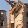 Demolition of the old building in the town — Stock Photo #58545903