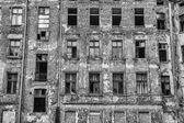 Old ruined and abandoned city house — Stock Photo