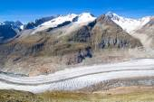 Aletsch Glacier in the Swiss Alps — Stock Photo