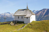 Typical swiss mountain church — Stock Photo