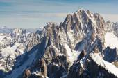 Landscape of high alps mountains in the Mont Blanc massif — Stock Photo