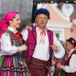 Folk dancers from city of Lowicz and traditional costumes, Polan — Stock Photo #59565425