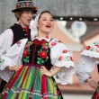 Folk dancers from city of Lowicz and traditional costumes, Polan — Stock Photo #59565609