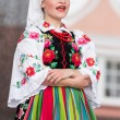 Folk dancers from city of Lowicz and traditional costumes, Polan — Stock Photo #59565637