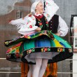 Folk dancers from city of Lowicz and traditional costumes, Polan — Stock Photo #59565797