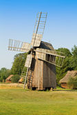 Old wooden windmill in the countryside — Stock Photo