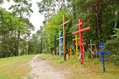 Hill of crosses in Grabarka town — Stock Photo