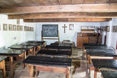 Iinterior of the historic old village school in city of Lowicz — Stock Photo
