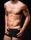 Muscled sexi torso of a man  — Stock Photo
