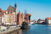 Beautiful view of  Gdansk city — Stock Photo