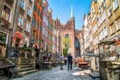 Mariacka Street in Gdansk — Stock Photo