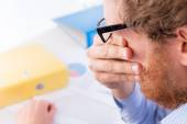 Crying and problems at work — Stock Photo