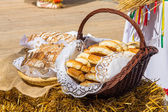 Traditional rural pastries — Stock Photo