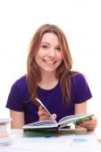Young girl learning — Stock Photo