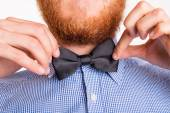 Man with a bow tie — Stock Photo