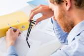 Fatigue while working in the office — Stock Photo