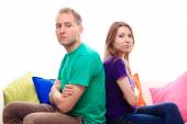 Offended boy and girl — Stock Photo