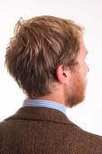 Back of the head and the hair of a young man — Stock Photo