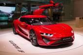 Quant F elektrikli spor otomobil Geneva Motor Show'da 2015 — Stok fotoğraf