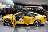 Volkswagen Sport Coupe GTE at Geneva Motor Show 2015 — Stock Photo