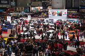 Crowd in the exhibition hall at Geneva Motor Show 2015 — Stock Photo