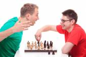 Man loses while playing chess — Stock Photo