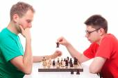 Two men playing  chess — Stock Photo