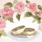 Wedding rings. — Stock Vector #56247545