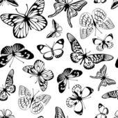 Black  butterflies. — Stock Vector