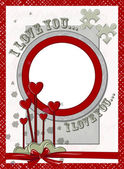 Valentine's Day Postcard. — Stock Vector