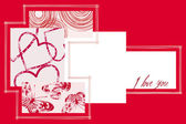 Valentine's Day Postcard. — Vector de stock