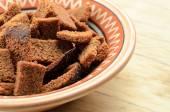 Rye bread croutons — Stock Photo