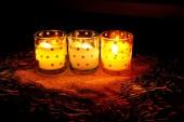 Tres velas — Foto de Stock
