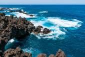 Beautiful North coast of madeira Porto Moniz. — Fotografia Stock