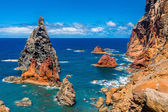 Volcanic rock-formations on East coast of Madeira-Portugal — Stock Photo