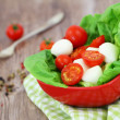 Mozzarella and cherry tomato salad — Stock Photo #55773665