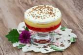 Strawberry trifle dessert — Stock Photo