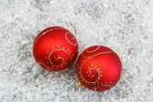 赤いクリスマスつまらない — ストック写真
